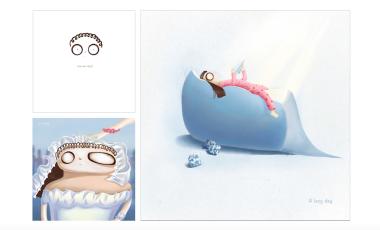 SHI YIJI 插画设计 皇家艺术学院、皇家艺术学院